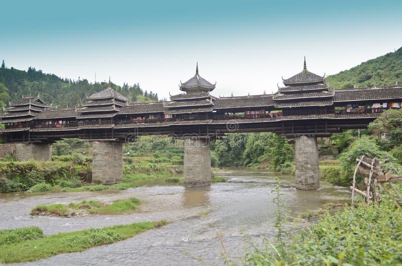 Pont en vent de Chengyang photographie stock