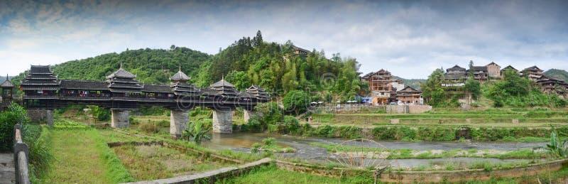 Pont en vent de Chengyang photographie stock libre de droits