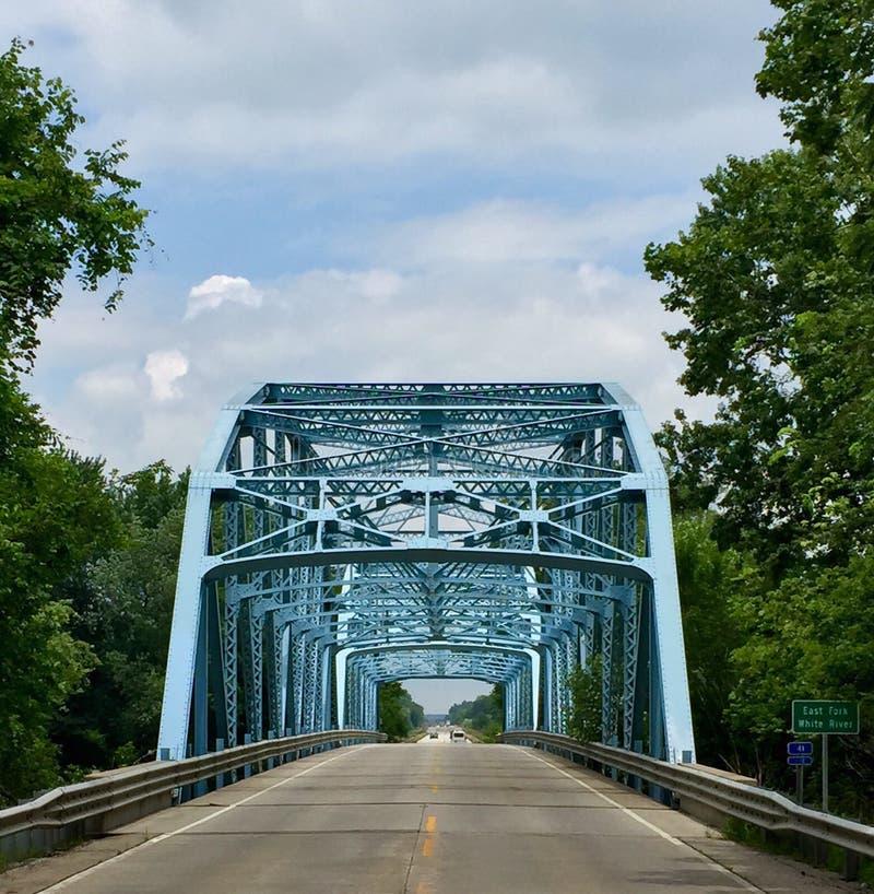 Pont est de White River de fourchette images libres de droits