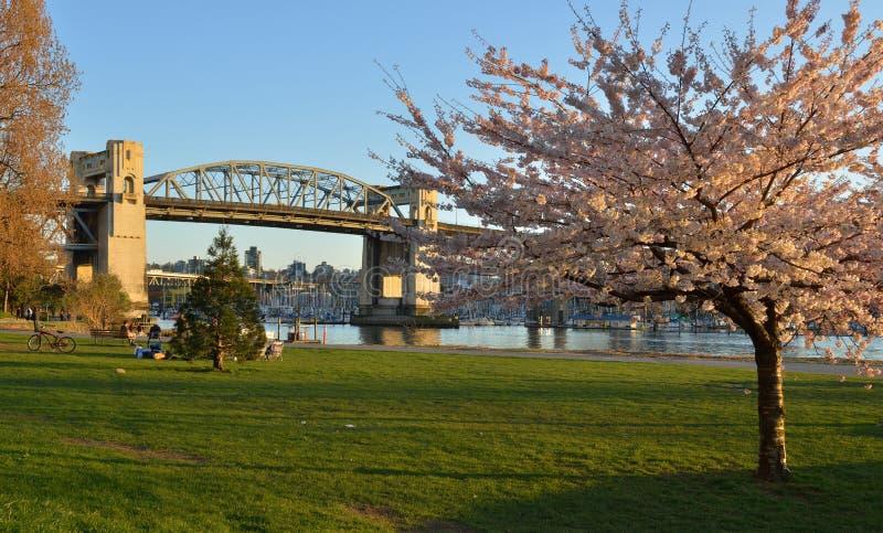 Pont historique de Burrard de Vancouver images stock