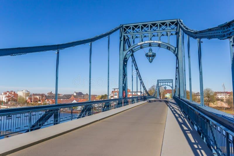 Pont historique de Kaiser Wilhelm dans Wilhelmshaven image libre de droits