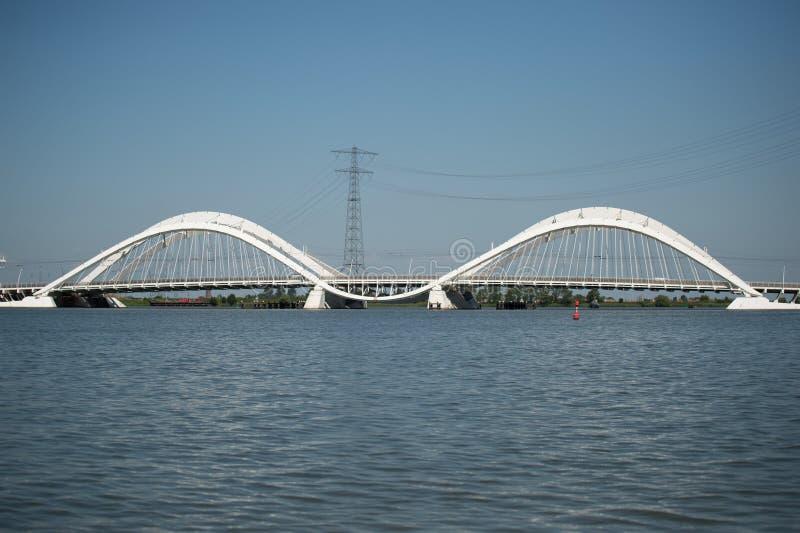 Pont IJburg Pays-Bas de Heerma photos stock