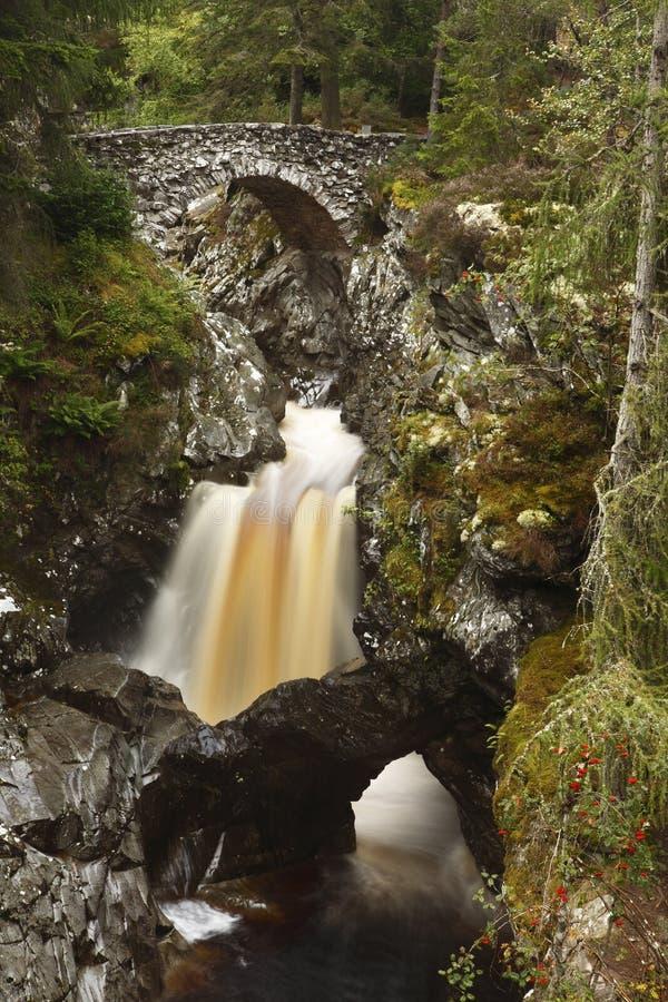 Pont inférieur, automnes de Bruar photos libres de droits