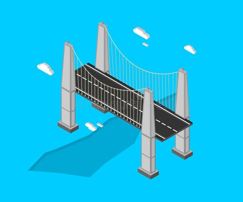 Pont isométrique frais illustration stock