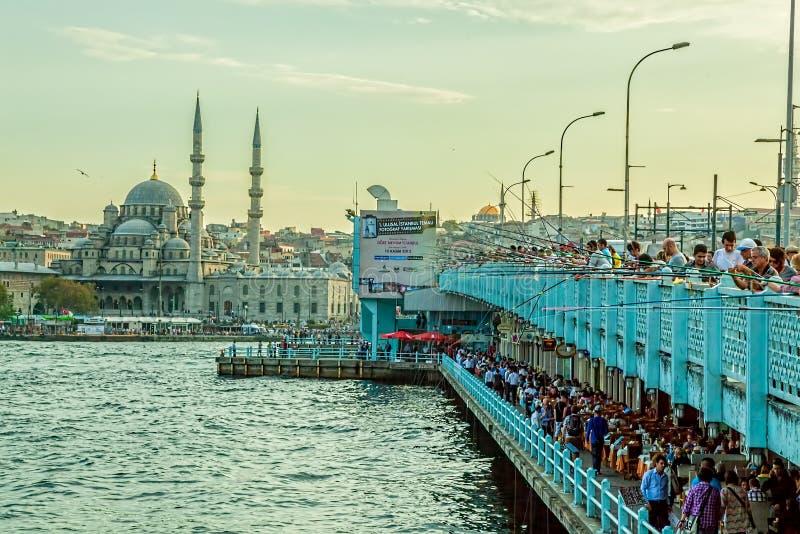 Pont Istanbul de Galata photo stock