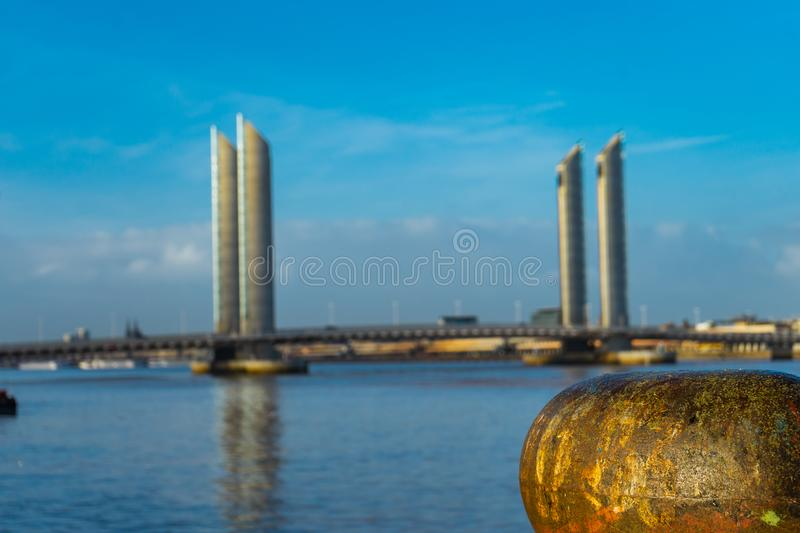 Pont Jacques Chaban-Delmas in Bordeaux, France stock photography