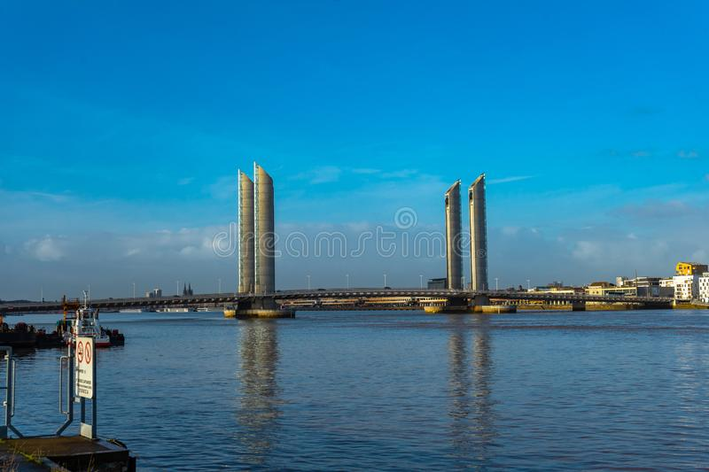 Pont Jacques Chaban-Delmas in Bordeaux, France royalty free stock images