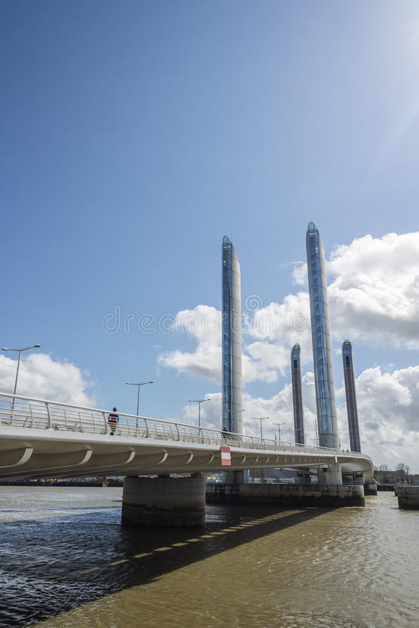 Pont Jacques Chaban-Delmas in Bordeaux, France stock image