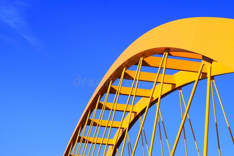 Pont jaune photo stock