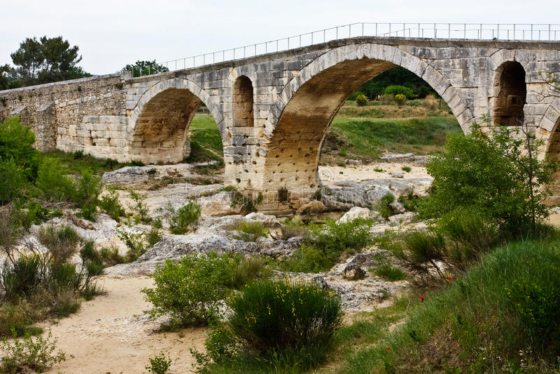 Download Pont Julien stock photo. Image of domitia, brush, provence - 25525460