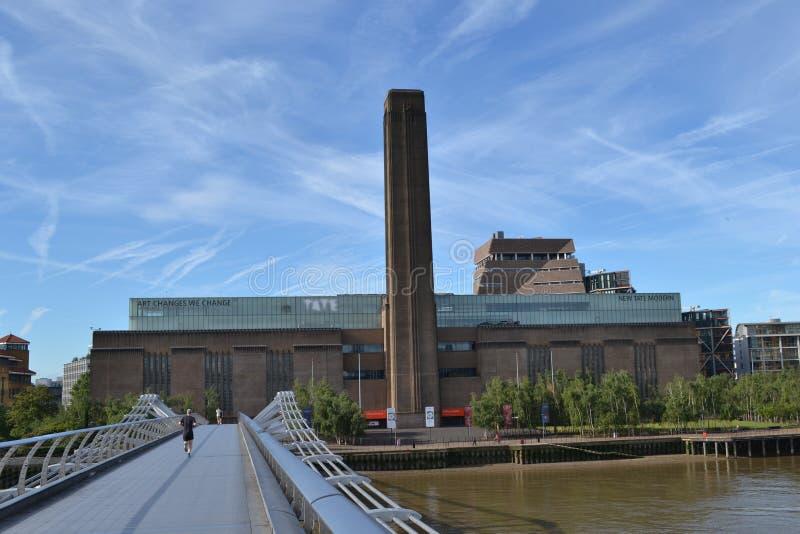 Pont la Tamise Tate Modern de millénaire image libre de droits