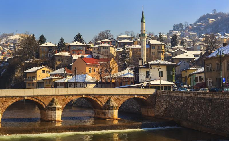 Pont latin à Sarajevo photo stock