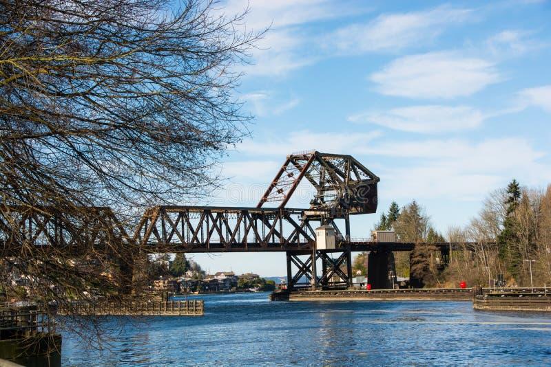 Pont-levis de train photo stock