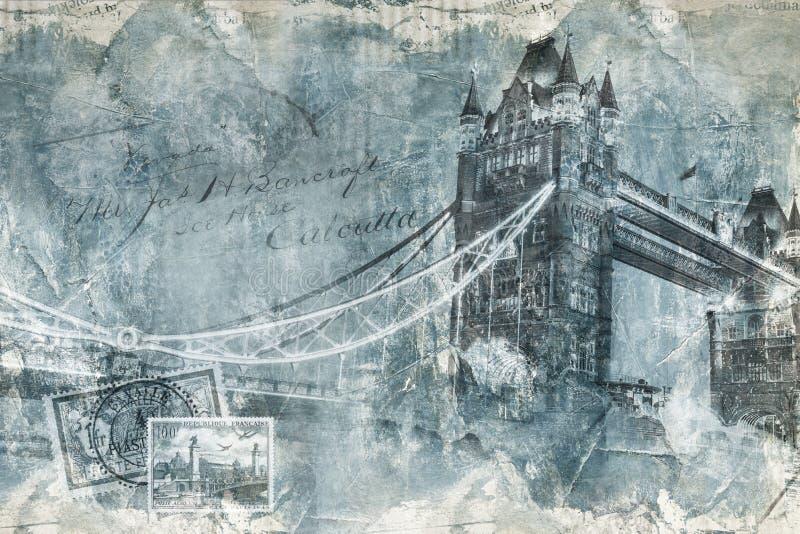 Pont Londres, art numérique de tour illustration stock
