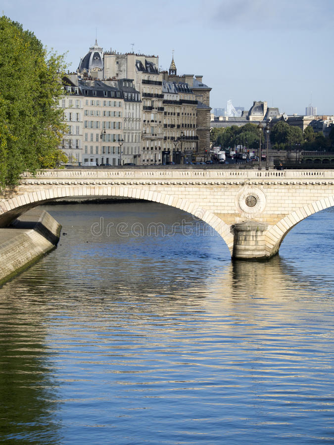 Pont Louis Philippe, Paris, France royalty free stock photo