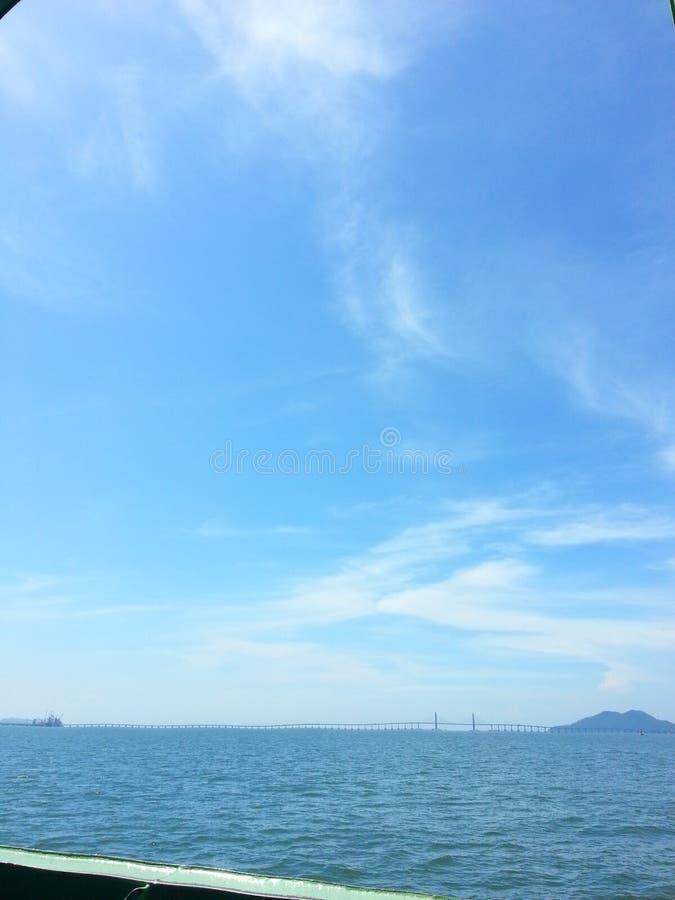 Pont Malaisie de Penang photo stock