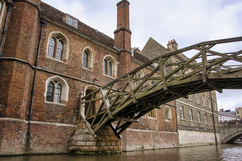 Pont mathématique, depuis la rivière Cam photo libre de droits