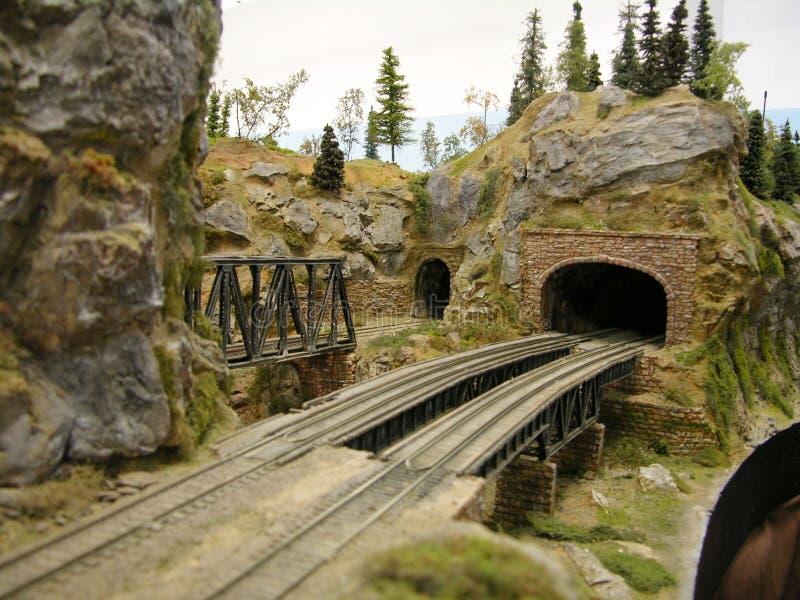 Pont modèle en chemin de fer image libre de droits