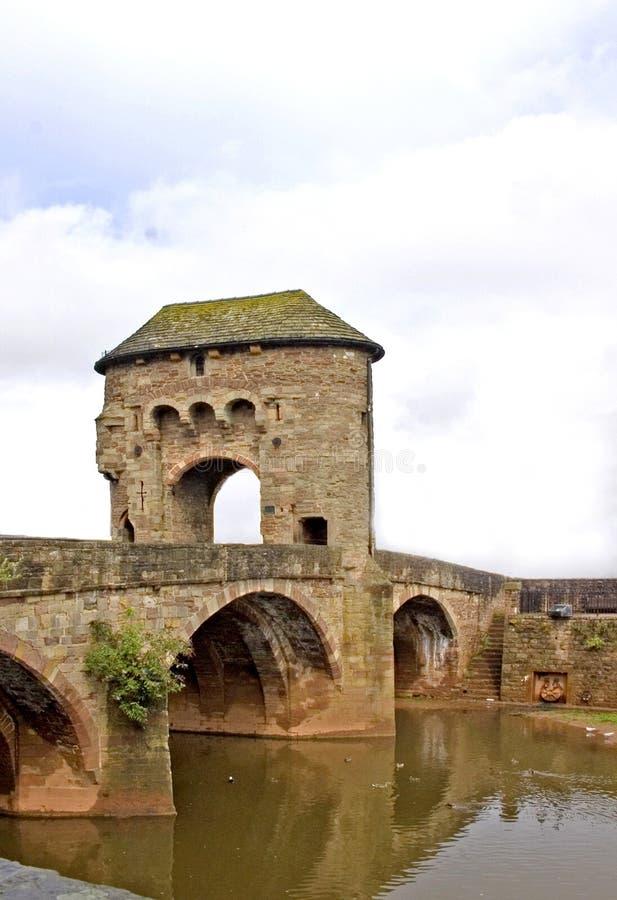 Pont Monmouth en Gateway de Monnow photographie stock libre de droits