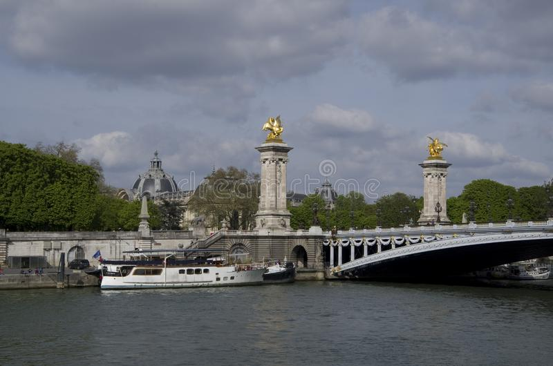 Pont most Alexandre III obrazy stock