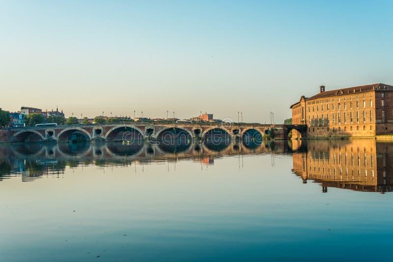 Pont Neuf en Toulouse, Francia fotografía de archivo libre de regalías