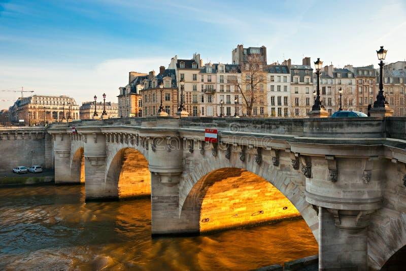 Pont neuf, Ile de la Citera, Paris. arkivbilder