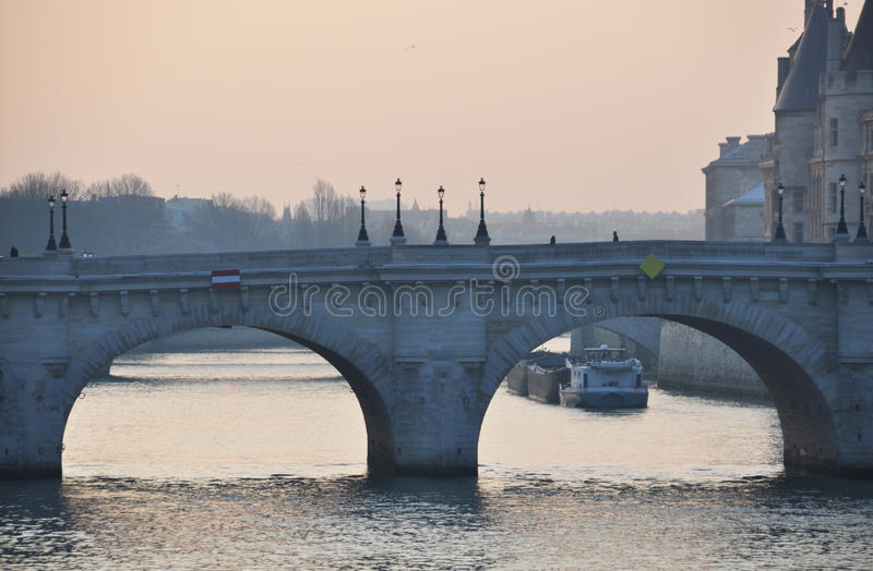 The Pont Neuf in Paris stock photography