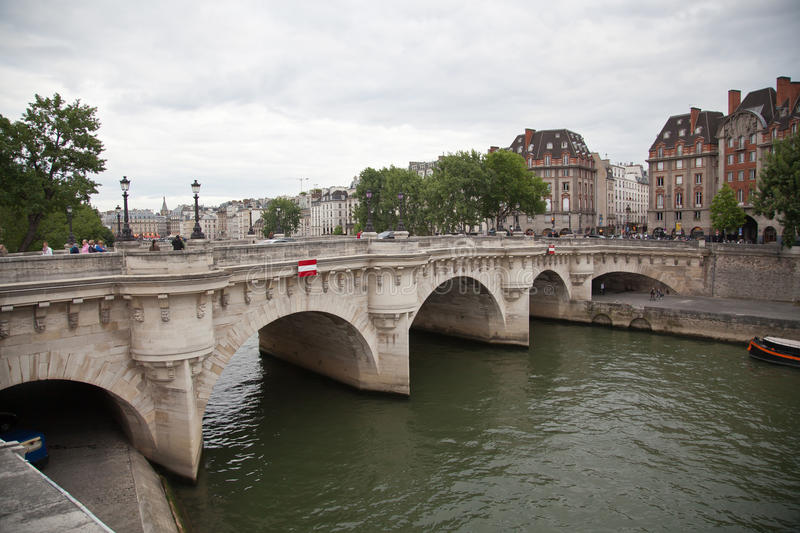 Pont Neuf and the river Seine, Paris royalty free stock image