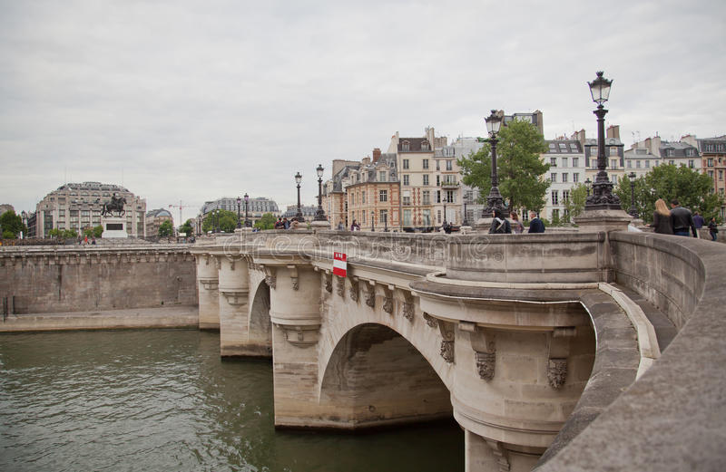 Pont Neuf and the river Seine, Paris royalty free stock images