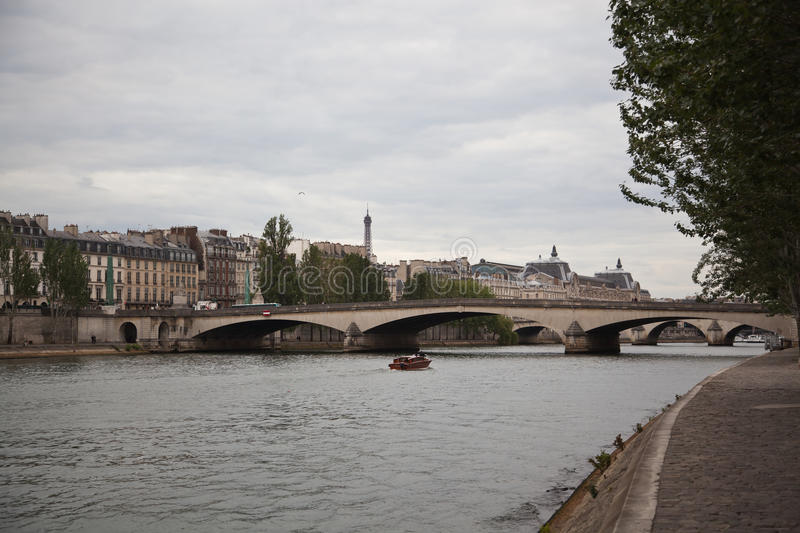 Pont Neuf and the river Seine, Paris royalty free stock photography