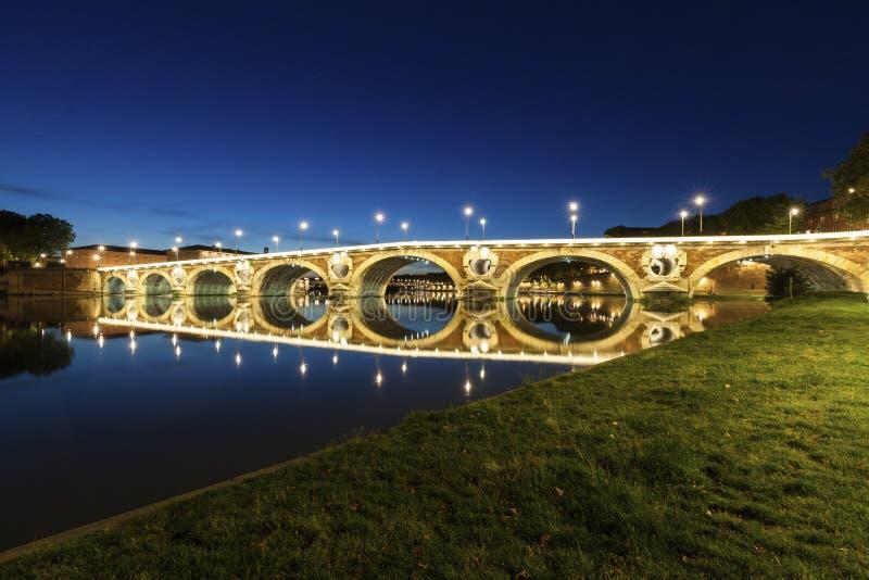 Pont-Neuf in Toulouse stockbilder