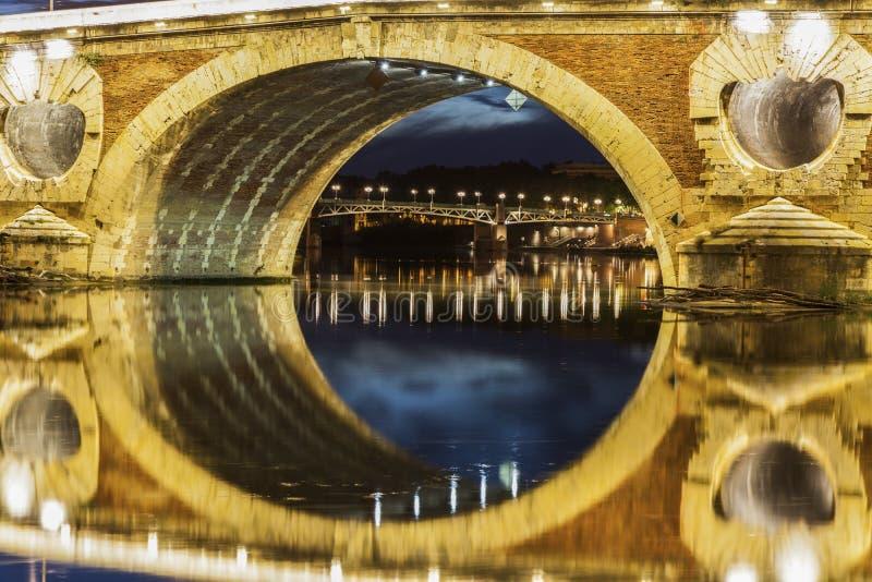Pont-Neuf in Toulouse stockfoto