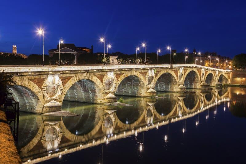 Pont Neuf in Toulouse stockbilder