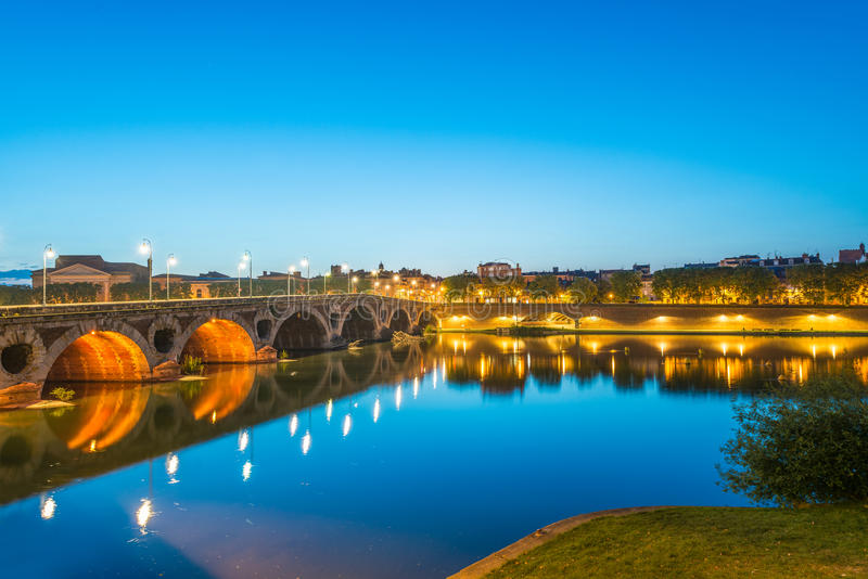 Pont Neuf in Toulouse, France. stock images