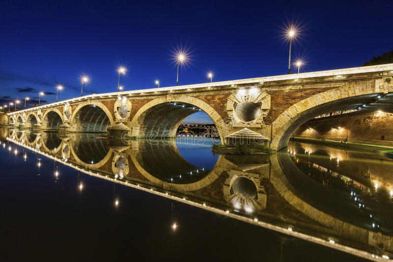Pont-Neuf in Toulouse royalty free stock photo