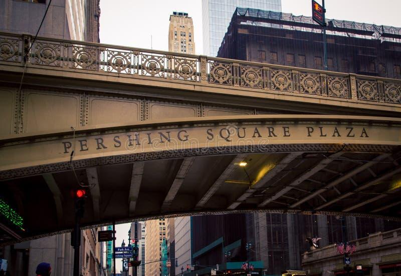 Pont New York City de place de Pershing images stock