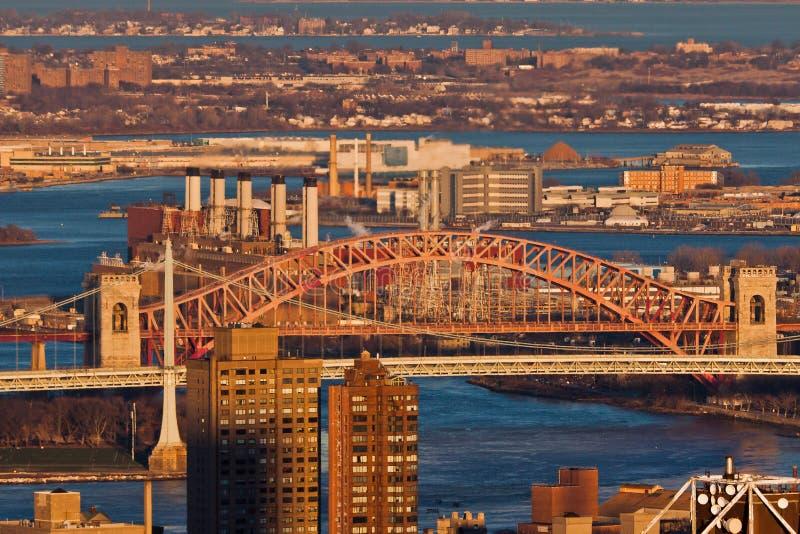 Pont New York City En Porte D Enfers Image libre de droits
