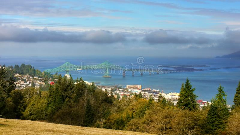Pont Orégon Etats-Unis d'Astoria photos stock