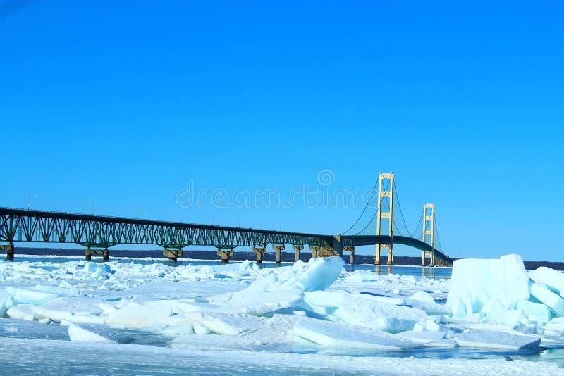 Pont pendant l'hiver photo libre de droits