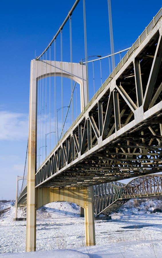 Pont Pierre Laporte immagini stock libere da diritti