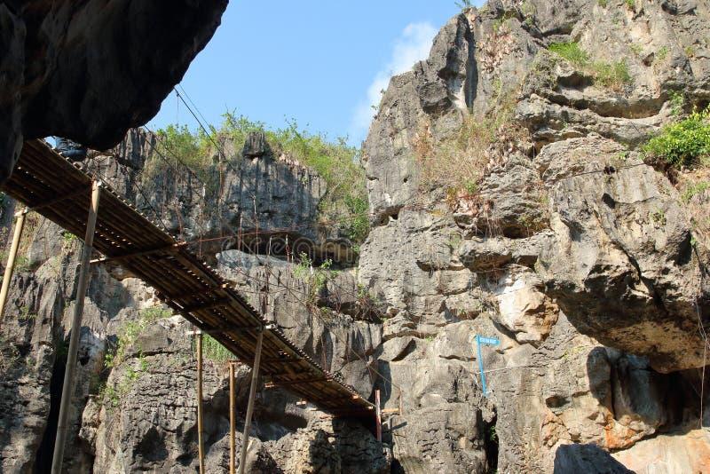 Pont Putri Ngerit, Trenggalek East Java, Indonésie photos stock