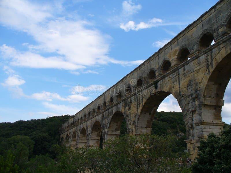 Pont roumain dans les Frances chez Le Pont du le Gard photographie stock