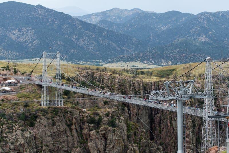Pont royal le Colorado de gorge images libres de droits
