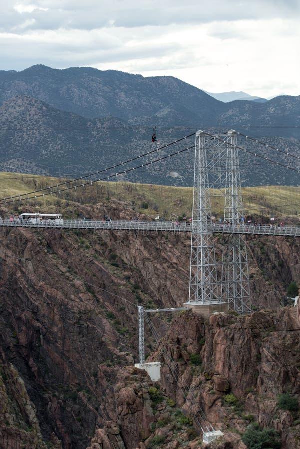 Pont royal le Colorado de gorge photo libre de droits