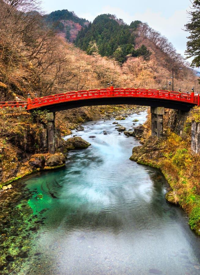 Pont sacré de Nikko, Japon images stock