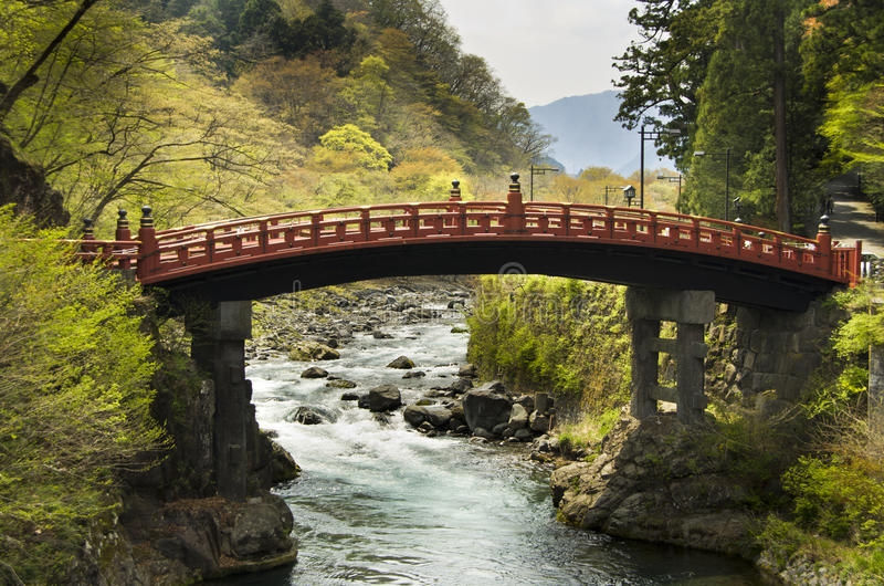 Pont sacré Shinkyo, Nikko images stock