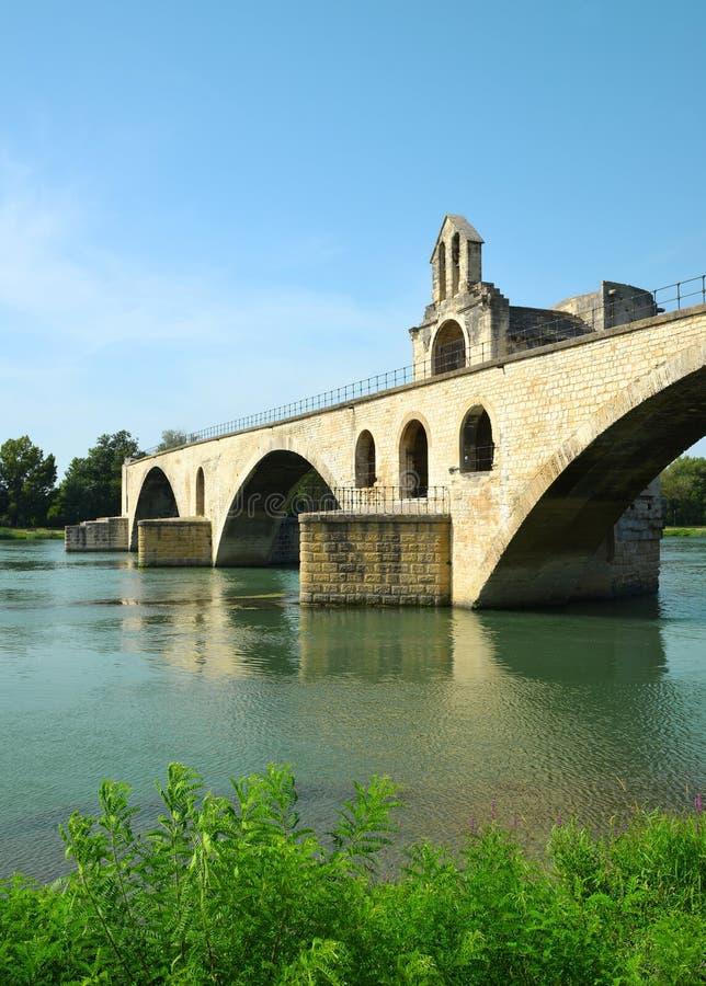 Pont Saint-Benezet in Avignon royalty free stock photo