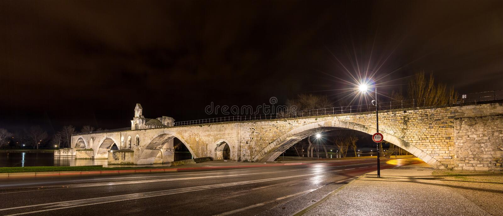 Pont Saint-Benezet in Avignon, a world heritage site in France royalty free stock photos