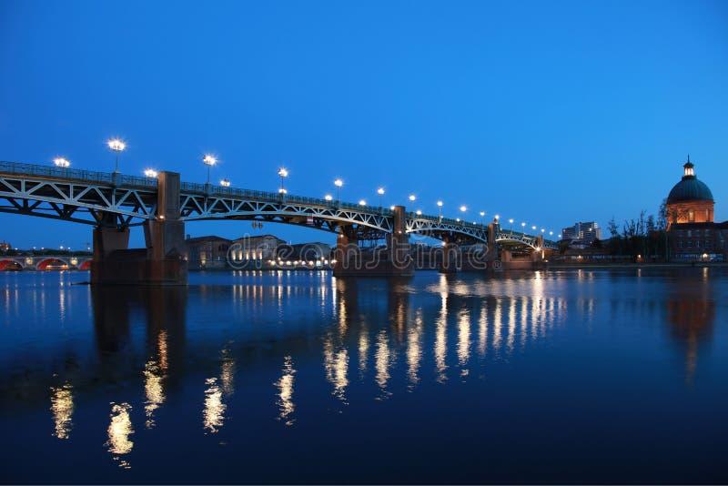 Pont Saint-Pierre em Toulouse fotos de stock royalty free