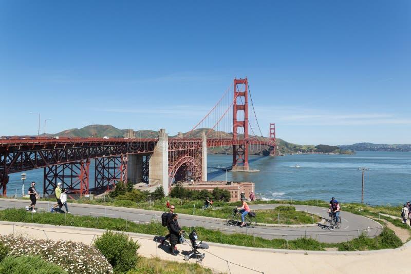 Pont San Francisco en porte d'or photographie stock